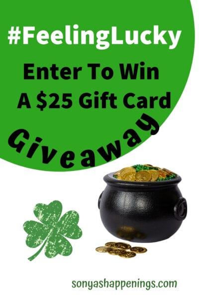 win a $25 gift card #FeelingLucky