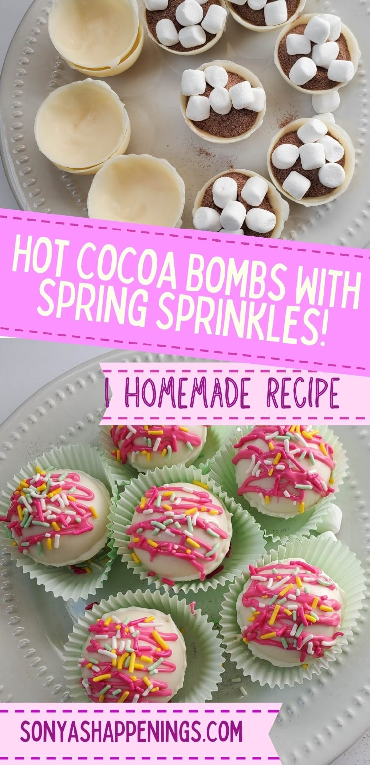 Spring sprinkles hot chocolate bombs recipe