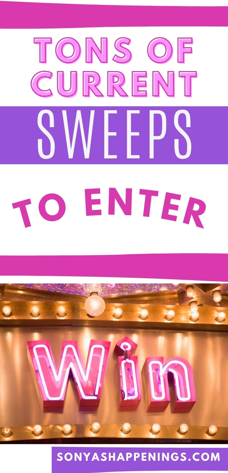 Current Sweepstakes  ~ Find them here and win prizes *updated 4-10*