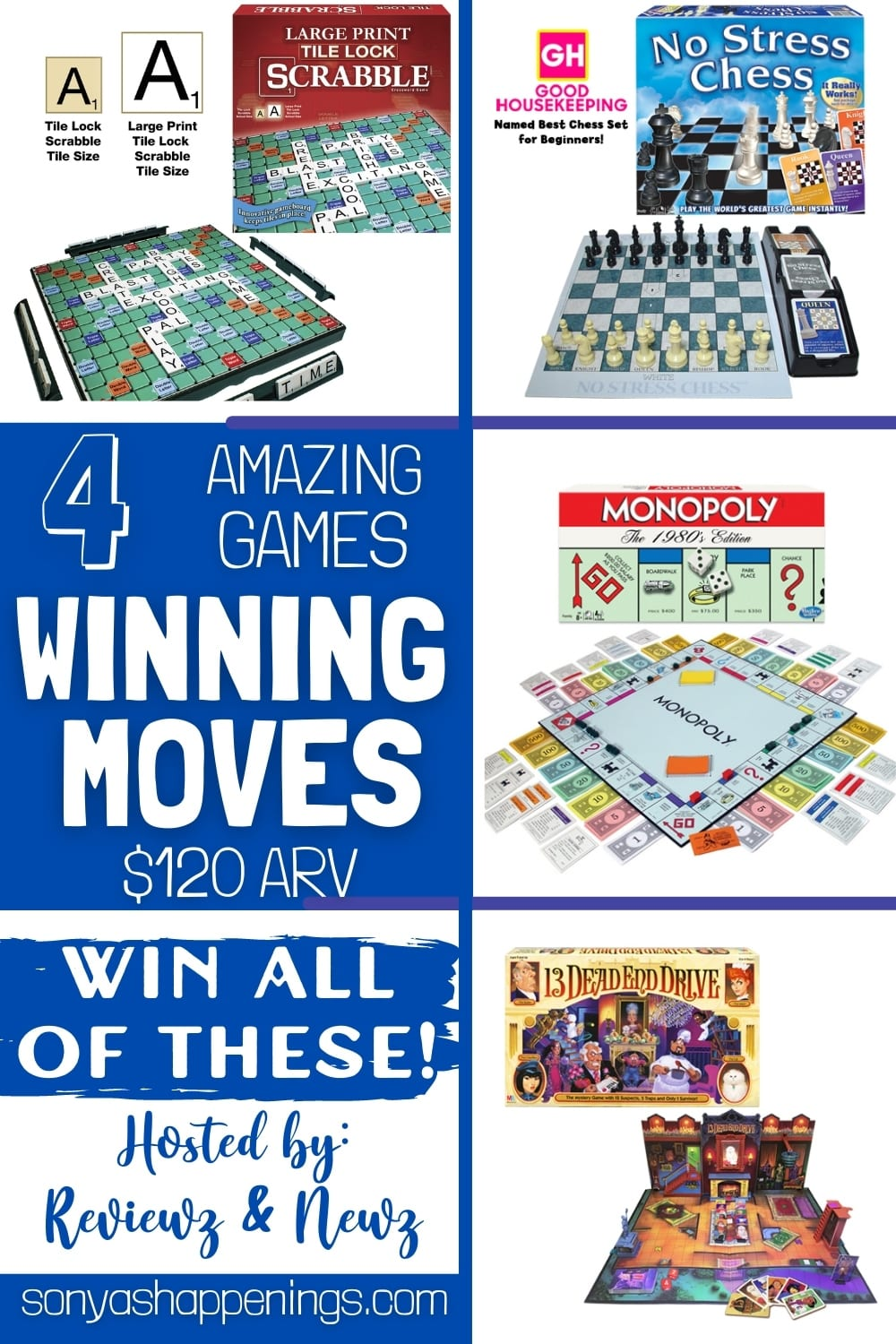 Win FOUR Winning Moves Games ($120 ARV) ~ Giveaway Ends 4-20
