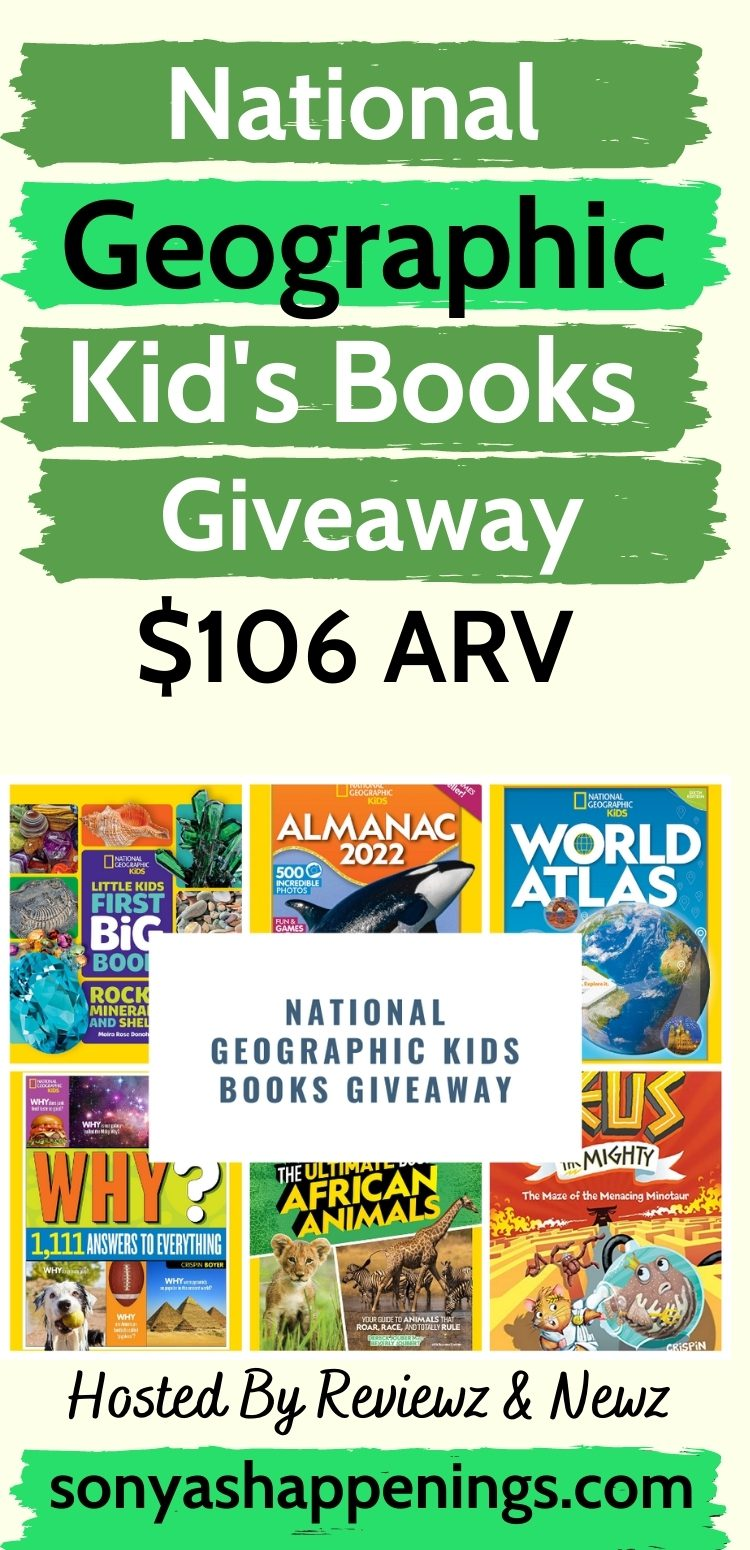 Enter To Win 6 National Geographic Kids Book ~ Giveaway Ends 10-19 ($106 Value)