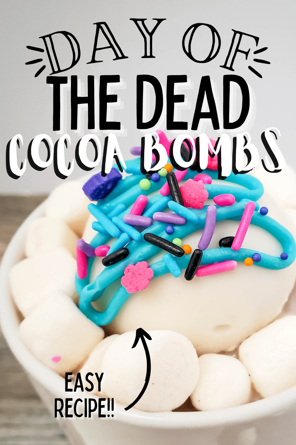Day Of The Dead White Chocolate Hot Cocoa Bombs ~ Video Included