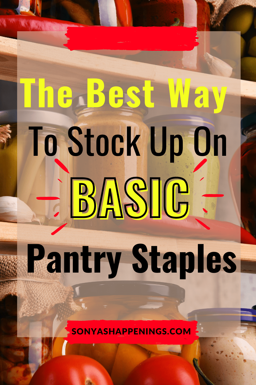 Stock Up On Basic Pantry Staples To Save Time And Money For The Holidays