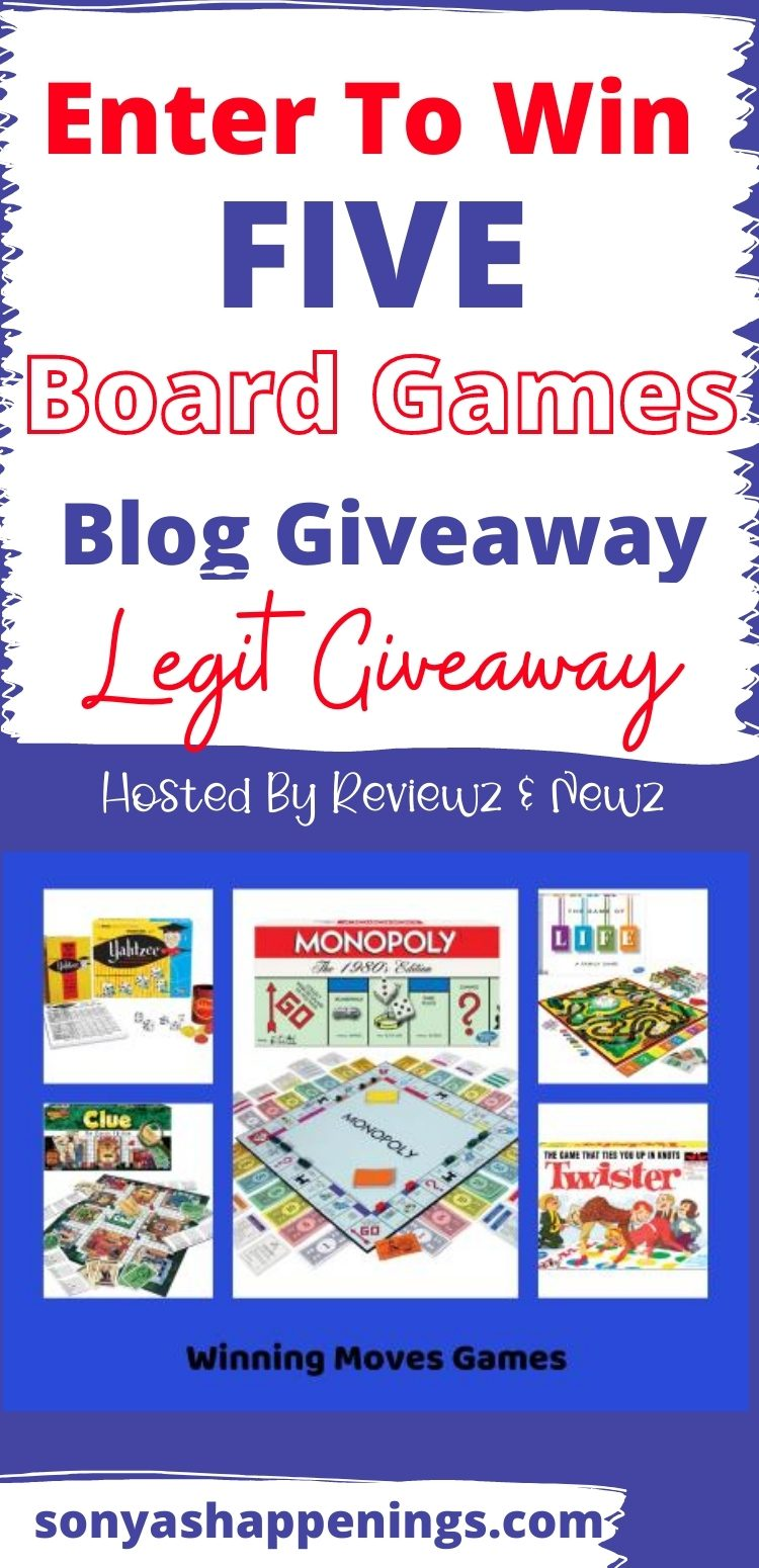 Enter To Win 5 Family Board Games ($120 ARV) ~ Giveaway Ends 10-21